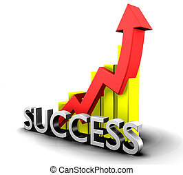 statistica, grafico, parola, successo