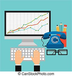 statistical calculations design, vector illustration eps10...