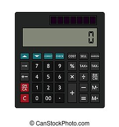 Statistical Calculator Icon. Editable Outline With Color ...