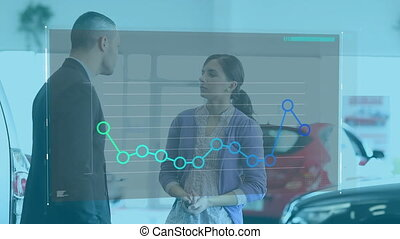 Statistical data processing against car salesman guiding ...