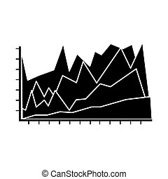 statistical graphic chart icon over white background. vector...