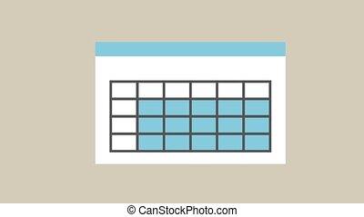 statistico, crescente, whiteboard, hd, animazione
