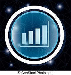 Statistics bar graphic button