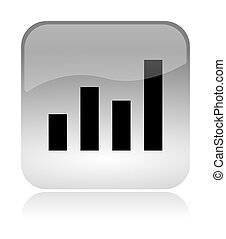 Statistics chart web interface icon