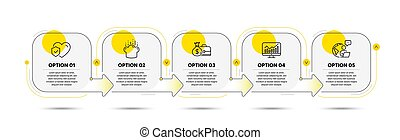 Statistics, Cooking hat and Salary icons set. Life insurance sign. Vector