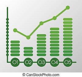 statistics graphic design , vector illustration