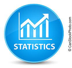 Statistics elegant cyan blue round button