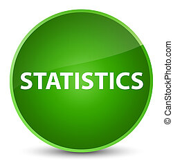 Statistics elegant green round button