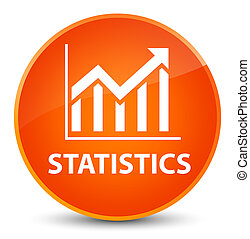 Statistics elegant orange round button