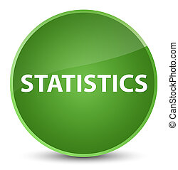 Statistics elegant soft green round button