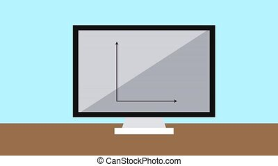 Statistics from computer screen HD animation - Statistics...