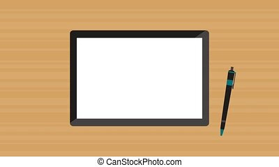 Statistics from tablet HD animation - Statistics decreasing...
