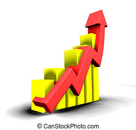 Statistics graphic - 3d made