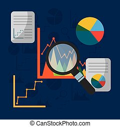 statistics graphs pie chart presentation search file