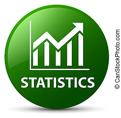 Statistics green round button