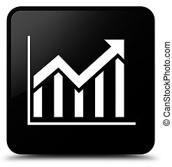 Statistics icon black square button