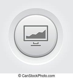 Statistics icon. Button Design.