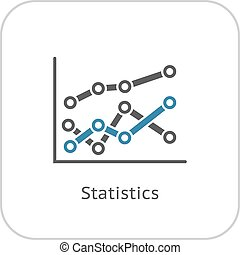 Statistics Icon. Flat Design.
