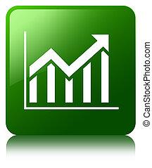 Statistics icon green square button