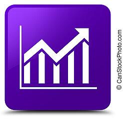 Statistics icon purple square button