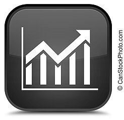 Statistics icon special black square button