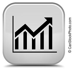 Statistics icon special white square button