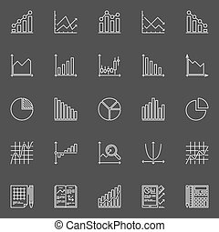 Statistics icons collection