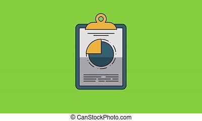Statistics on clipboard HD - Statistics clipboard on green...