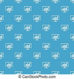 Statistics on monitor pattern seamless blue