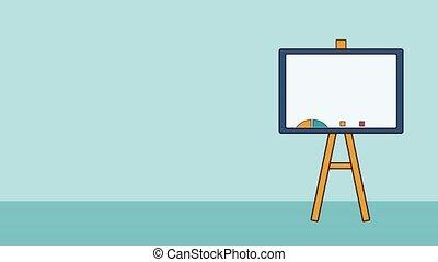 Statistics on whiteboard HD animation - Statistics graphics...