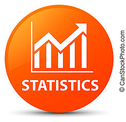 Statistics orange round button