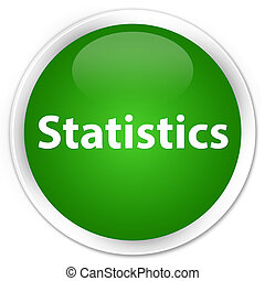 Statistics premium green round button