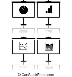 Statistics presentation icons