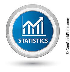 Statistics prime blue round button