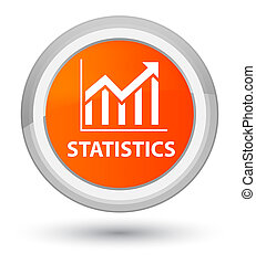Statistics prime orange round button