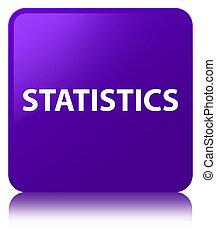 Statistics purple square button