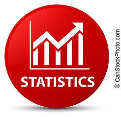 Statistics red round button
