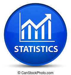 Statistics special blue round button