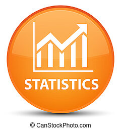 Statistics special orange round button