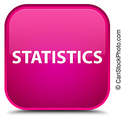 Statistics special pink square button