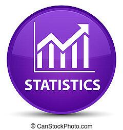 Statistics special purple round button