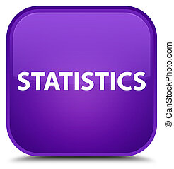 Statistics special purple square button