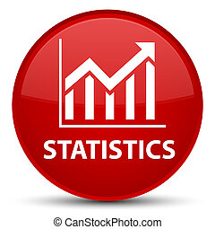 Statistics special red round button