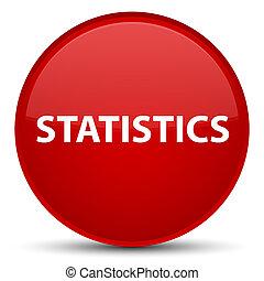 Statistics special red round button