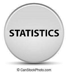Statistics special white round button