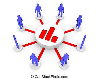 statistics., team., público, analizar