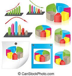 statistics., vector, empresa / negocio