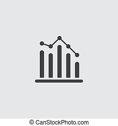 statistics vector icon, infographic chart symbol. Modern, simple flat vector illustration for web site or mobile app