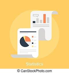 Statistics - Vector illustration of statistics flat design...