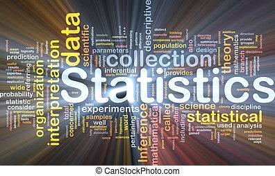 statistiek, gloeiend, concept, achtergrond